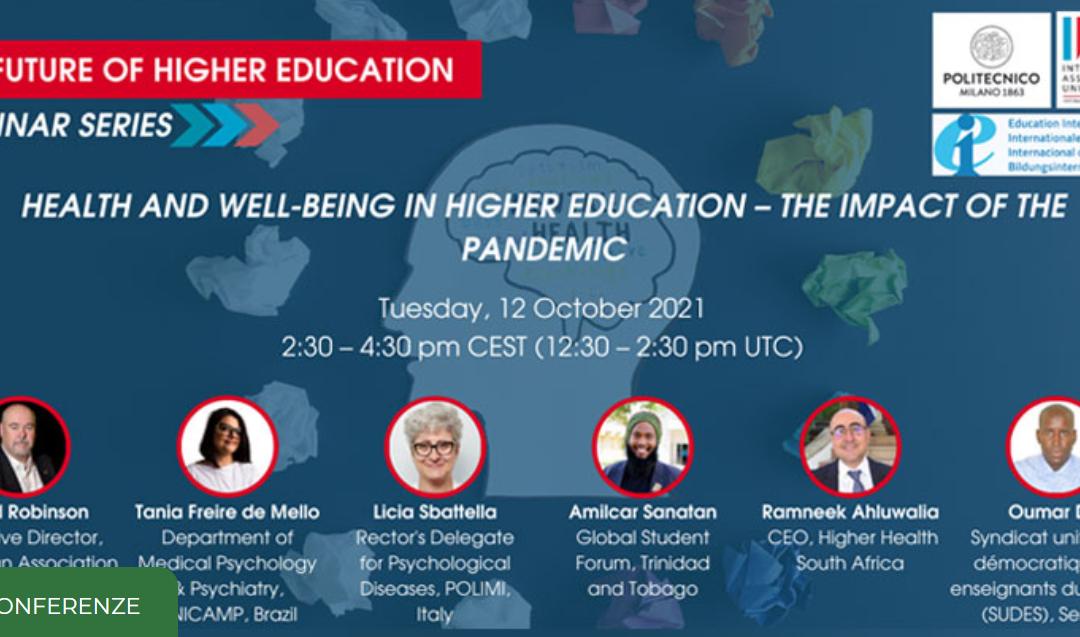 "Webinar ""Health and wellbeing in higher education"""